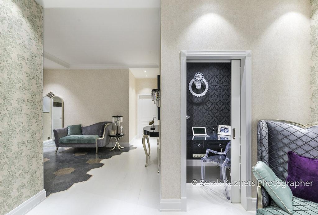 Фото интерьера двухкомнатной квартиры по проекту в ЖК Ромашково