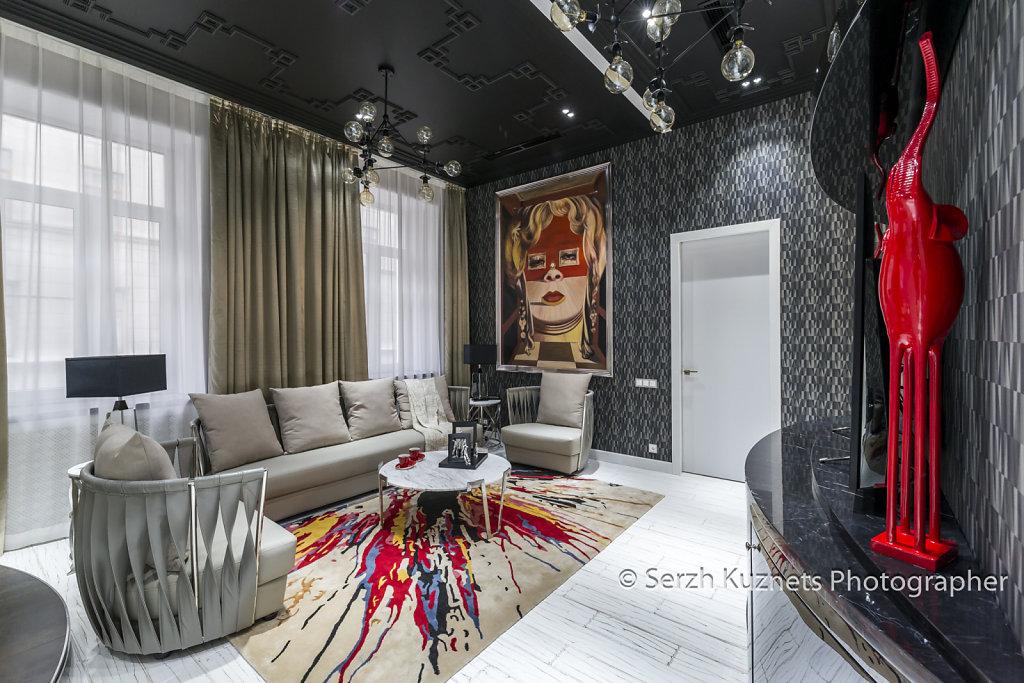 Фото интерьера квартиры в историческом центре Москвы