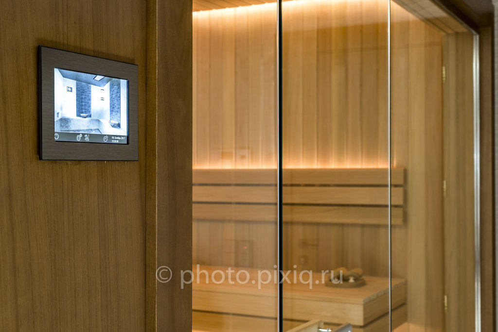 Фото сауны с электропечью EOS